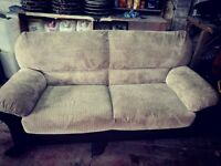 2 seater brown couch good condition