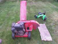 MTD petrol garden mulcher, shredder, chipper