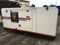GENERATOR SET 60 KVA MASSEY FERGUSON, 4 CYLINDER PERKINS ENGINE, RUN LOVELY, NOT CHARGING!