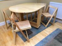 Folding Table with 4 Chairs - Very Good Condition