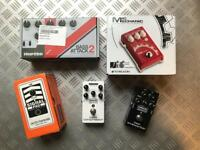 Guitar/Bass/Vocal effect pedals. MXR. Hartke. EHX. TC. (priced individually)