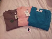 BNWT American Apparel short sleeve V-Neck T-shirts Sizes S and M and a Shorts, size M. Made in USA
