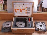 """Spindle moulder cutter block """"OMAS"""" door profiler set for cabinet doors K426-2 multi profile set"""