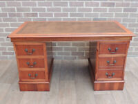 Vintage Ladies 3 Part Leather Top Desk (UK Safe Delivery)
