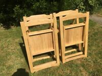 X 4 Folding Chairs