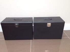 Metal File Boxes x 2 (foolscap)