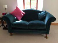 Laura Ashley Velvet Teal Couch
