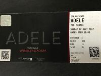 4 Adele tickets Wembley 2nd July