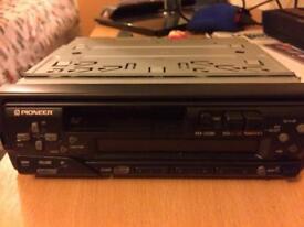 Car stereo cassette player