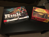 Board games - Risk and Settlers of Catan