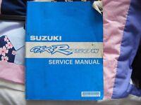 genuine suzuki gsxr 750W workshop manual