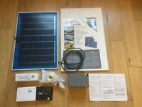 Complete plug and play solar kit for garage , barn or shed lighting.
