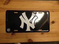 New York yankees license plate baseball memorabilia enamel sign
