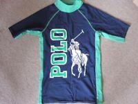 Polo Ralph Lauren Boy's Large Logo Rashguard - Age 12 approx
