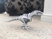 Walking toy dinosaur mini roboraptor