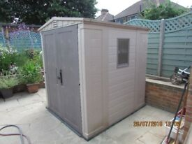 Keter Garden Shed 6ft 6ins x 5ft 6ins (1.880m x 1.660m) with double doors & window £399 o.n.o.