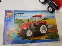 Lego City Red Farm Tractor & Farmer 7634 Complete + Instructions