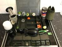 Job lot of carp fishing tackle and 10kg of boilies