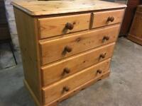 Solid Pine Chest Of Drawers dovetail joints. Delivery Available