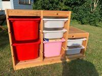 IKEA Trofast kids pine storage system