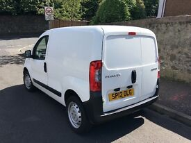 Immaculate 2012 Peugeot Bipper panel van, only 60000 miles, full service history, year mot, no vat
