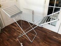 Heated clothes rack