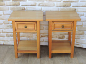 Pair of Unique Bedside Tables Willis & Gambier (Delivery)