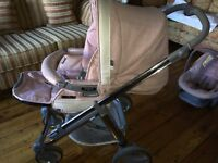 Bebecar Ip Op travel system - Candy floss colour