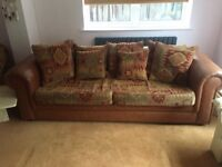 Large comfy 4 seater sofa and 'cuddling' chair