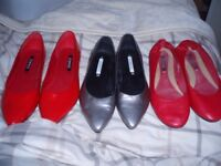 3 x shoes from george, 2 worn once and other worn couple of times (other items)