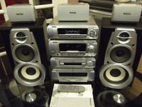 Technics 5 CD hifi system very powerfull and in immaculate condition,All seperates with built in DVD