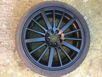 "VW Volkswagen caddy corrado golf jetta passat polo scirocco Black Alloy wheels 18"" inch alloys wheel"