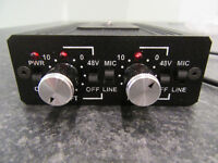 Dual XLR Phantom Power Adaptor - As new in mint condition!