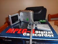 Super Fujicam MPEG-4 digital camcorder, working with all instruction ,box ,wires etc