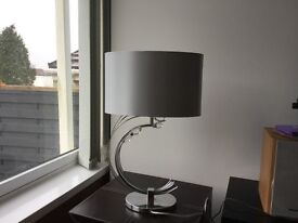 Next silver table lamp