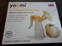 Practically new YOOMI electric or manual breast pump.