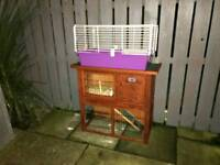 Cage and hutch with accessories
