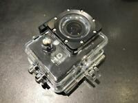Go pro style camera with waterproof housing