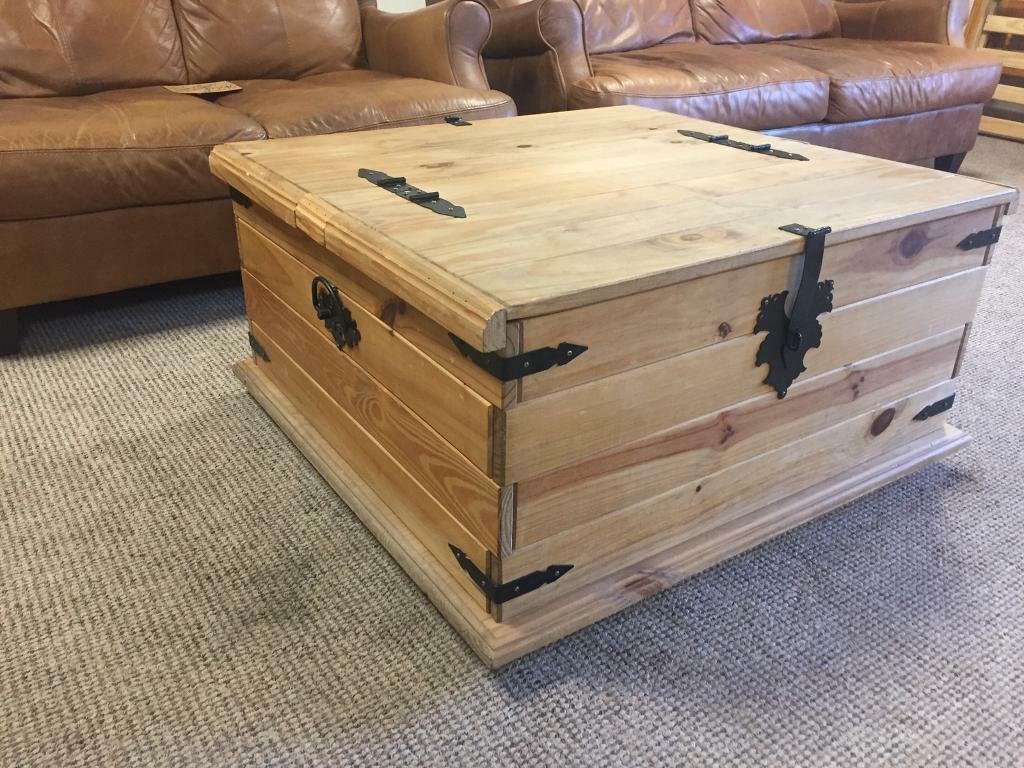 Mexican Pine Coffee Table Storage Toy Box