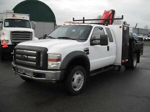 2008 Ford F-550 SuperCab 4WD Dually with Hiab Crane