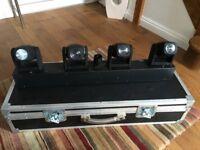 Cameo Hydrabeam 400 RGBW Lights with Hard Flight Case