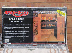Bar-Be-Quick Grill & Bake barbecue. Never used (boxed). Just add bricks