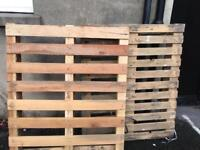 2x wooden pallets free to collector