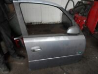 VAUXHALL MERIVA A 2002-2010 DRIVERS O/S FRONT RIGHT DOOR SILVER/SKY BLUE