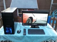 "overclocker gaming pc with 20""samsung screen"