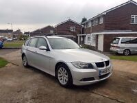 2008 BMW 320D SE TOURING,MOT MARCH 2018,2 KEYS,1 OWNER FROM NEW,07908114441