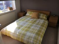 Oak Veneer IKEA Malm Double Bed