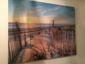 2 beach canvas