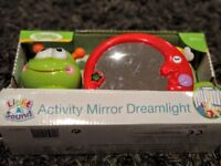 Cot Activity mirror lullaby light projector - BRAND NEW IN BOX