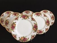 """Royal Albert """"Old Country Roses """" – 6 x Dinner Plates (Excellent Condition) 26.5 cm 10. 5 ins"""